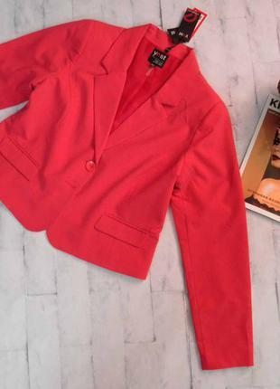 Приятный розовый пиджак отличного качества, размер 50 наш