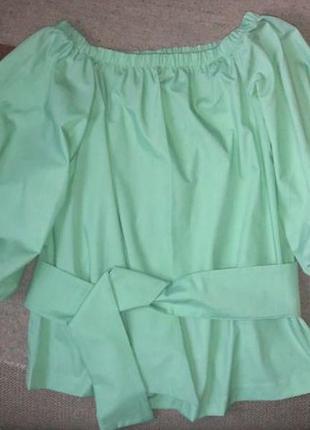 Новая блуза с поясом