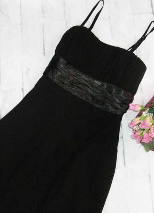Черный шифоновый нарядный сарафан, c&a германия размер 40 евро