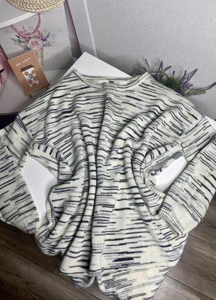 Тёплый свитер с разрезами по бокам h&m