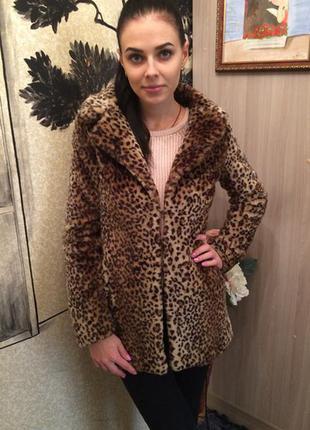 Стильная леопардовая шуба фирма new look
