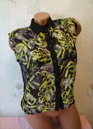 Летняя блузочка топ 12-13 лет подростковая xs s 158 см