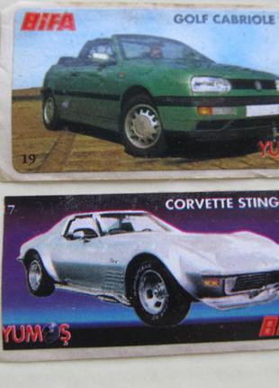 Коллекция наклеек bifa yumos автомобили