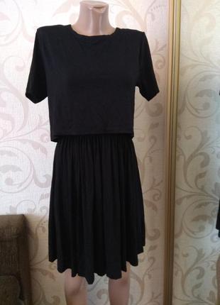 Платье трикотажное asos  2в1 миди