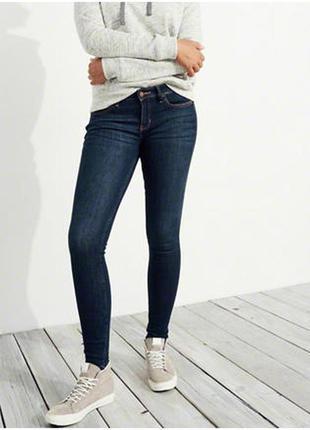 Темно синие джинсы hollister