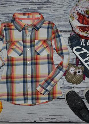 4 - 5 лет 104 - 110 см очень модная фирменная рубашка девочке клетка мазекеа mothercare
