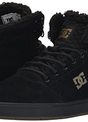 Замшевые теплые ботинки, сникерсы, кроссовки dc оригинал, унисекс