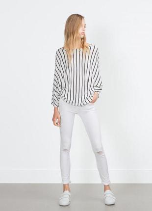 Zara топ блуза в полоску, м