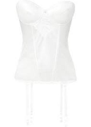 H&m белый корсет с подвязками для чулок, s-xs