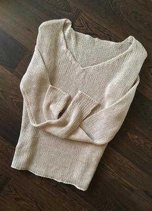 Укороченная натуральная кофта свитер реглан zara
