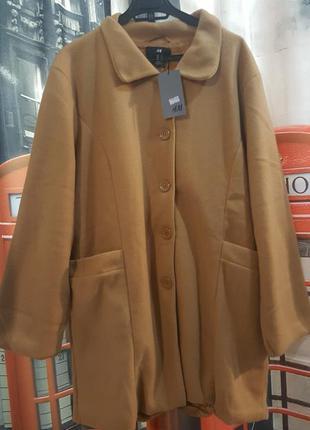 Стильное легкое пальто, на теплую погоду - л - на 14, 16 р-р
