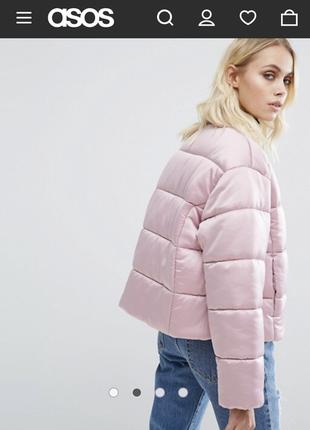 Куртка атласная asos