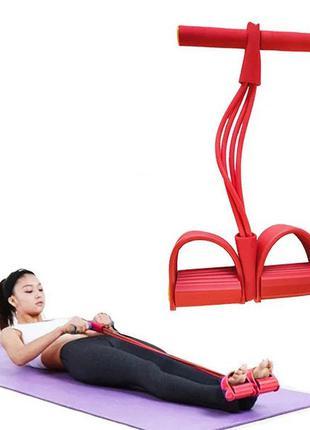 Тренажер для фитнеса pull reducer. цвет: красный