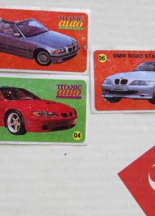 Коллекция наклеек titanic auto millenium models автомобили