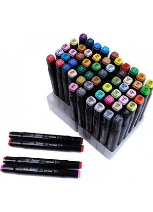 Набор двусторонних маркеров - 80 штук