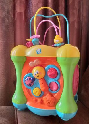Бизикуб, музыкальный куб, развивающая игрушка, бизиборд