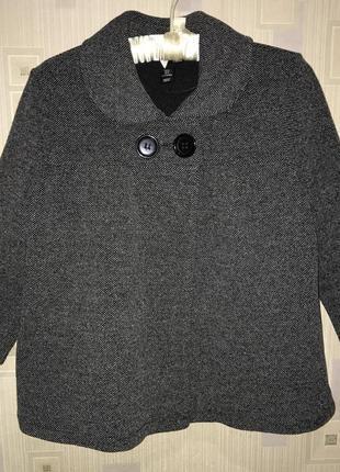 Пальто укорочённое,пиджак h&m