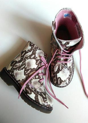 Кожаные лаковые ботинки pablosky на шнурках и молнии, размеры