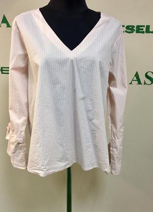Хлопковая рубашка с расклешенными рукавами