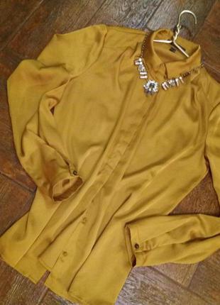 Esprit  нарядная  шелковая блуза