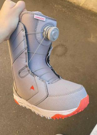 Ботинки для сноуборда burton limelight boa lilac gray 2020