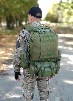💥⚡тактический штурмовой рюкзак kms с подсумками на 50-60 литров (топ качество)*