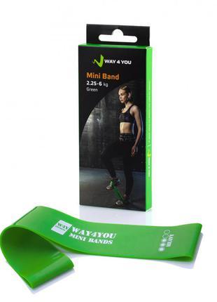 Эспандер для ног mini bands зеленый