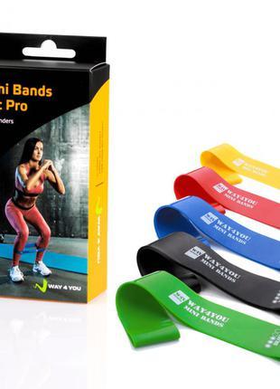 Набор эспандеров mini bands set pro 5шт. для тренировок