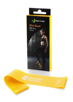 Эспандер для ног mini bands жёлтый