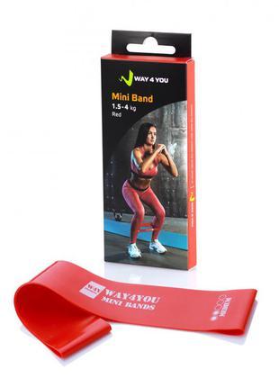 Эспандер для ног mini bands красный
