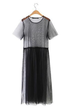 Платье сетка в пол