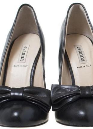 Новые шикарные кожаные туфли, р.36 стелька 23см.
