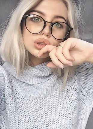 Стильные круглые имиджевые очки. очки для имиджа. очки для стиля