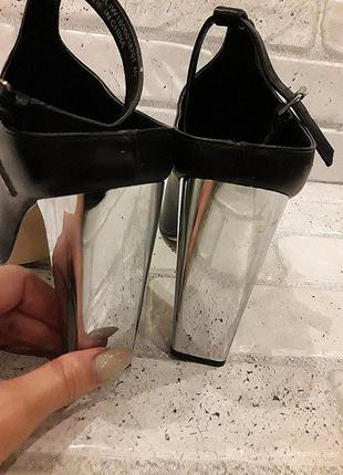 Asos/ lost ink босоножки с зеркальным каблуком