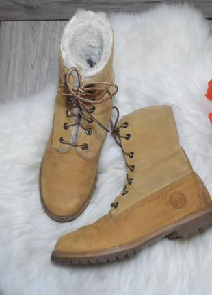 Кожаные ботинки популярного бренда timberland! 38 р.