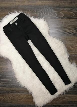 Черные скинни с необработанным краем 182835 demin co размер uk8/36 (s) джинсы штаны брюки
