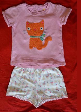 """Костюмчик на девочку""""рыжий котенок"""" 1-1,5 года next"""