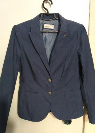 Коттоновый приталенный пиджак esprit