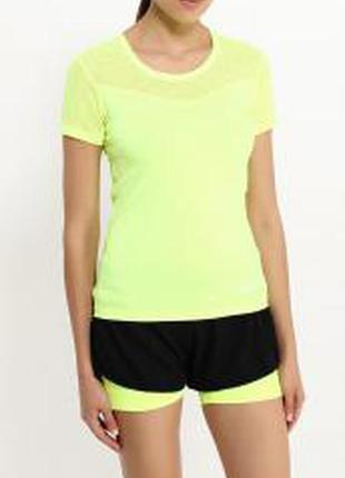 Яркая ,спортивная, трикотажная футболка канареечного (ярко- жёлтого) цвета/zara/турция