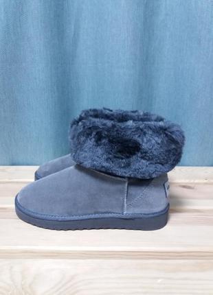 Ботинки-угги из натуральной замши