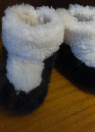 Теплые домашние угги на овчине