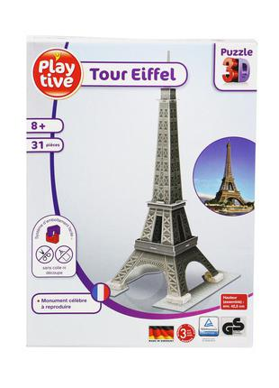"""3d пазл """"эйфелева башня"""" play tive - серый-разноцветный li-550004"""