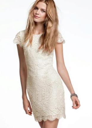 Гипюровое платье размер с-м