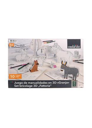 """3d конструктор-расскраска """"ферма"""" crelando - белый li-470399"""