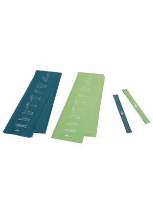 Набор фитнес резинок crivit - зеленый-синий li-550593