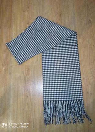 Классический мужской шарф ( в мелкую клетку)