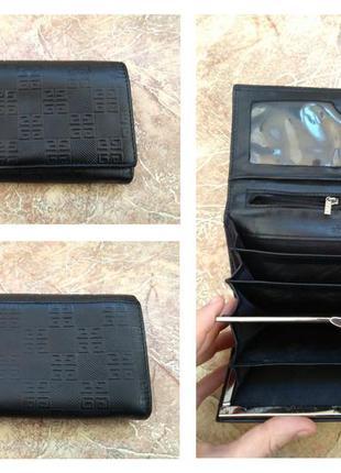 Фирменный портмоне/кошелек givenchy, нат.кожа+номерной2 фото