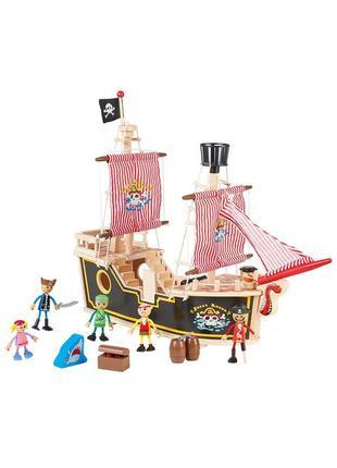Детский конструктор пиратский корабль playtive - разноцветный li-550697