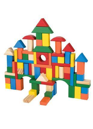 """Детский деревянный конструктор """"город"""" playtive - разноцветный li-550837"""