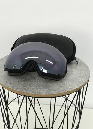 Горнолижна маска чорно-сіра outdoor master ski goggles pro black линза rose s3 vlt 17% горнолыжные о